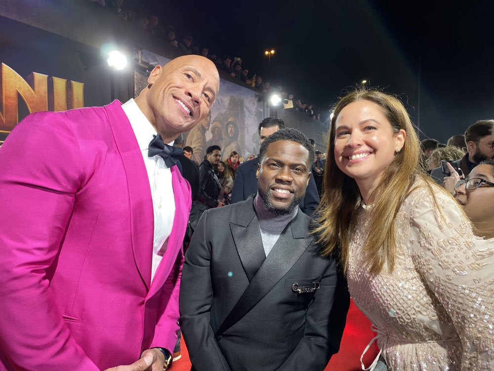 From the Red Carpet of Jumanji Movie with The Rock and Kevin Hart