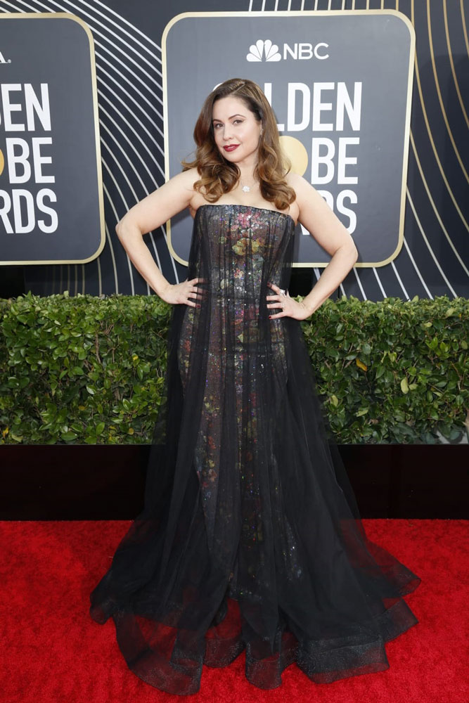 Wearing an artistic gown by Rami Kadi for Golden Globes