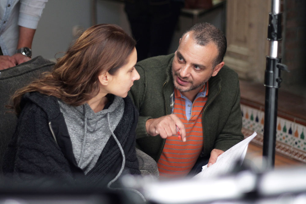 Tamer Mohsen & Nelly Karim behind the scenes of Taht Elsaytara