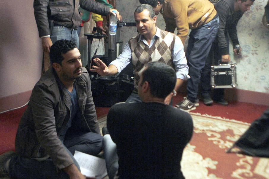 Tamer Mohsen behind the scenes of Bedoon Zekr Asmaa
