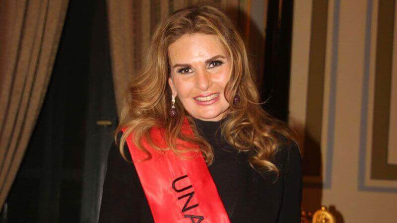 Egyptian film star Yousra smiles after being appointed as U.N. Goodwill Ambassador in Middle East and North Africa during a ceremony in Cairo