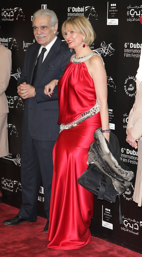 Yousra and Egyptian Actor Omar El Sherif at Dubai International Film Festival 2009