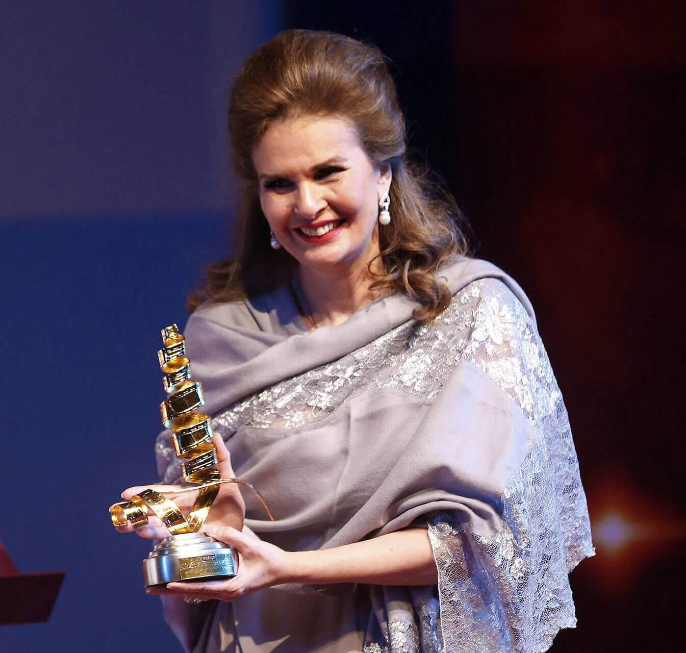 Yousra attends the opening ceremony of the 8th Muscat International Film Festival